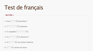 Campus Langues French Test